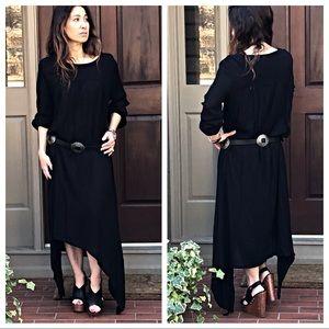 Dresses & Skirts - Black Asymmetrical loose fit maxi dress